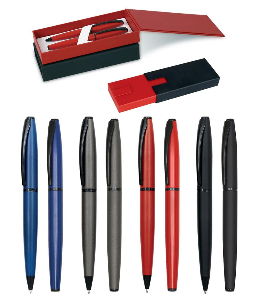 Kırmızı Roller ve Tükenmez Kalem Seti