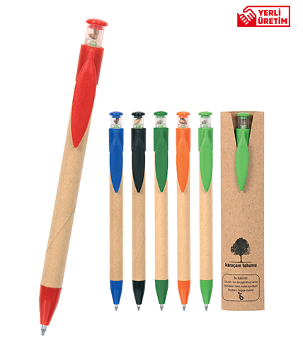 Kırmızı Tohumlu Tükenmez Kalem