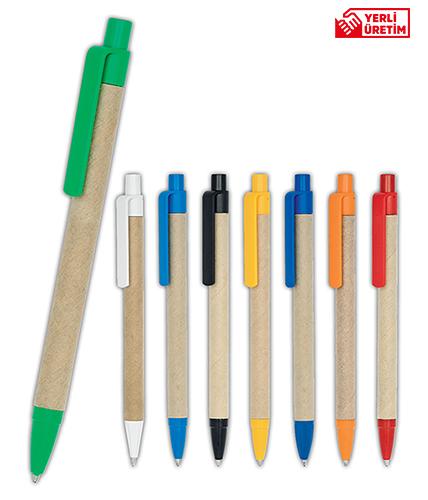 Yeşil Geri Dönüşümlü Tükenmez Kalem