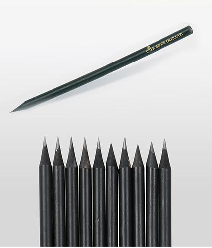 Siyah Latalı Yuvarlak Kurşun Kalem