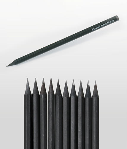 Siyah Latalı Köşeli Kurşun Kalem