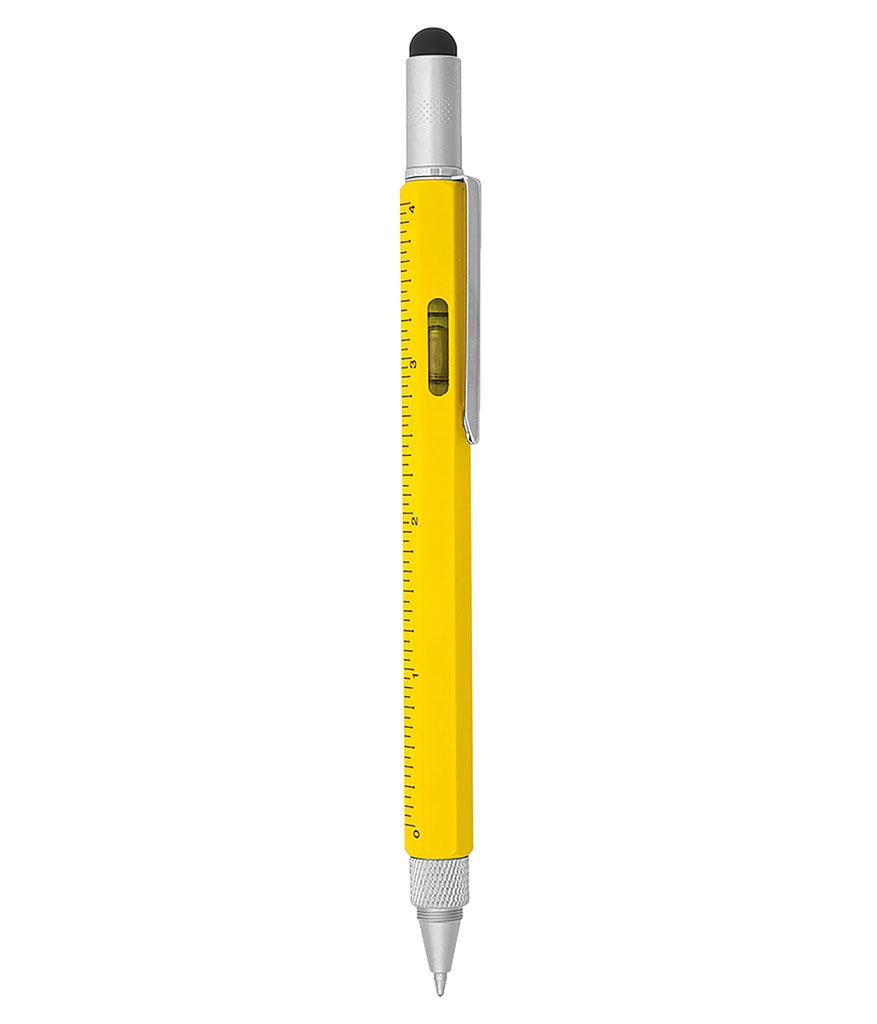 Sarı Çok Fonksiyonlu Metal Tükenmez Kalem
