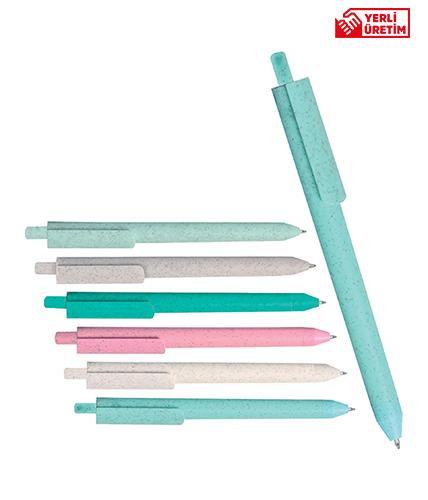 Turkuaz Yeşili Plastik Tükenmez Kalem