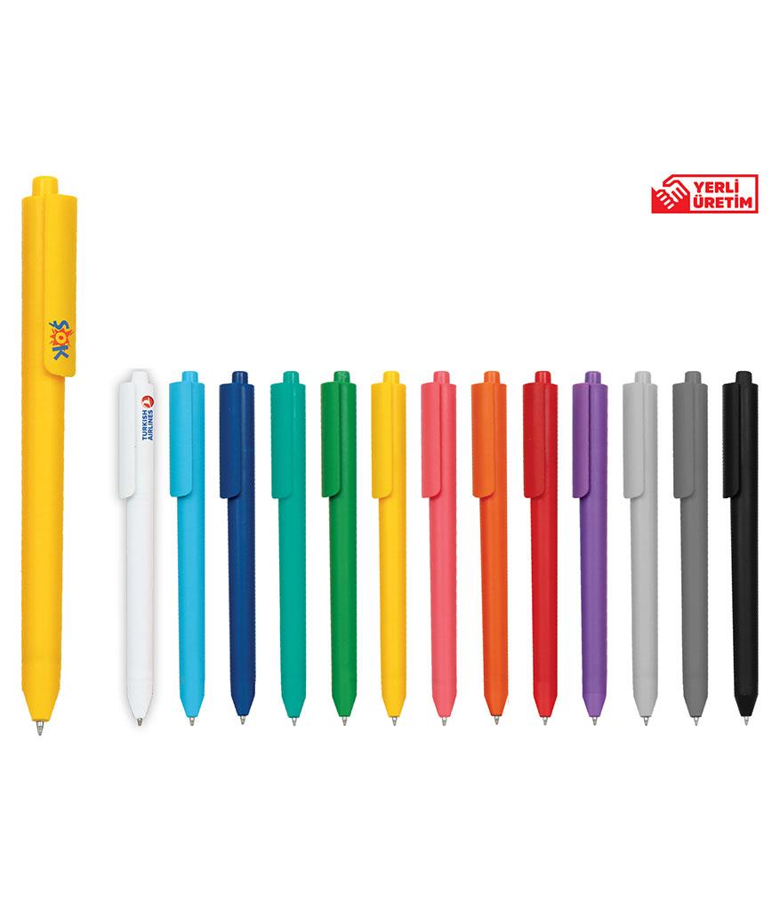 Sarı Plastik Tükenmez Kalem