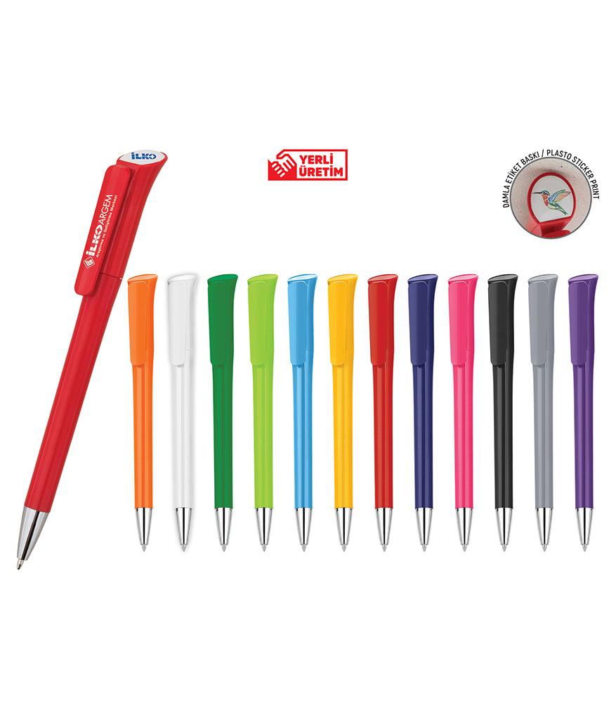 Kırmızı Plastik Tükenmez Kalem