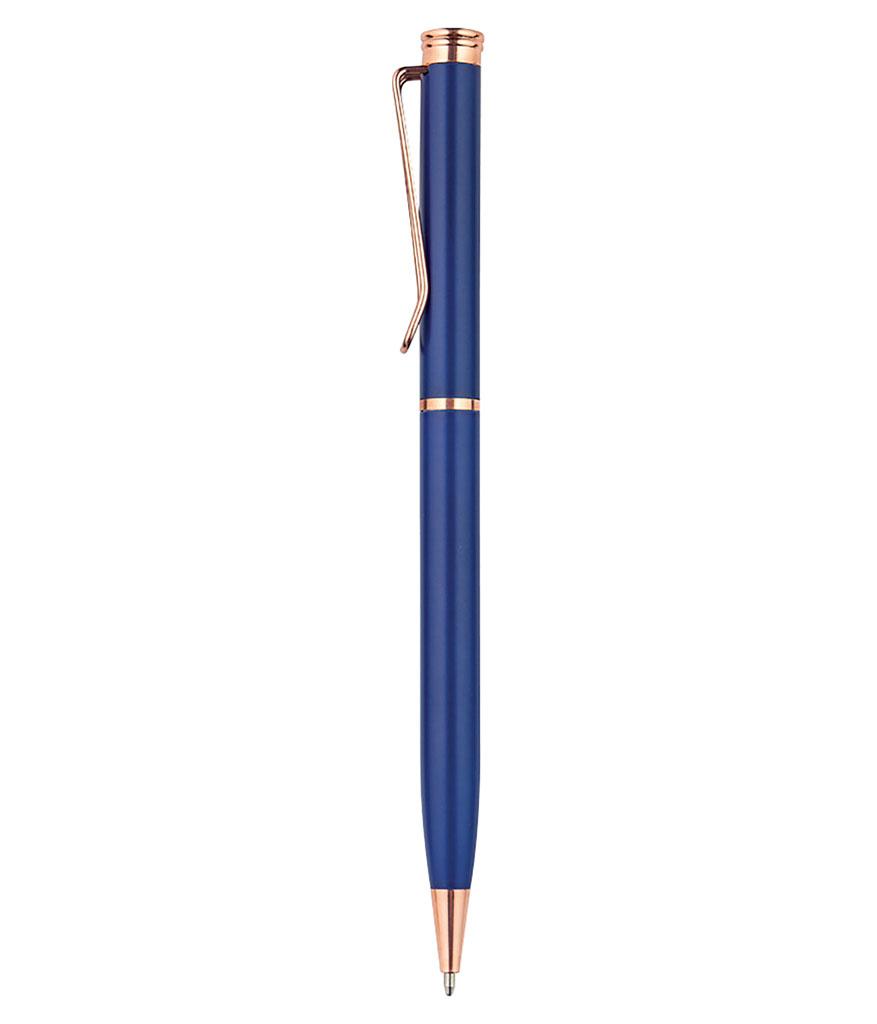 Lacivert Metal Tükenmez Kalem