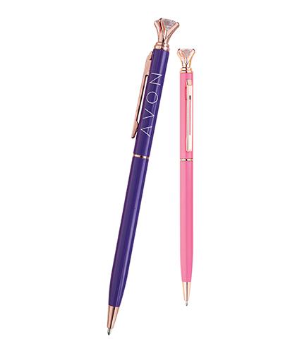 Mor Metal Tükenmez Kalem