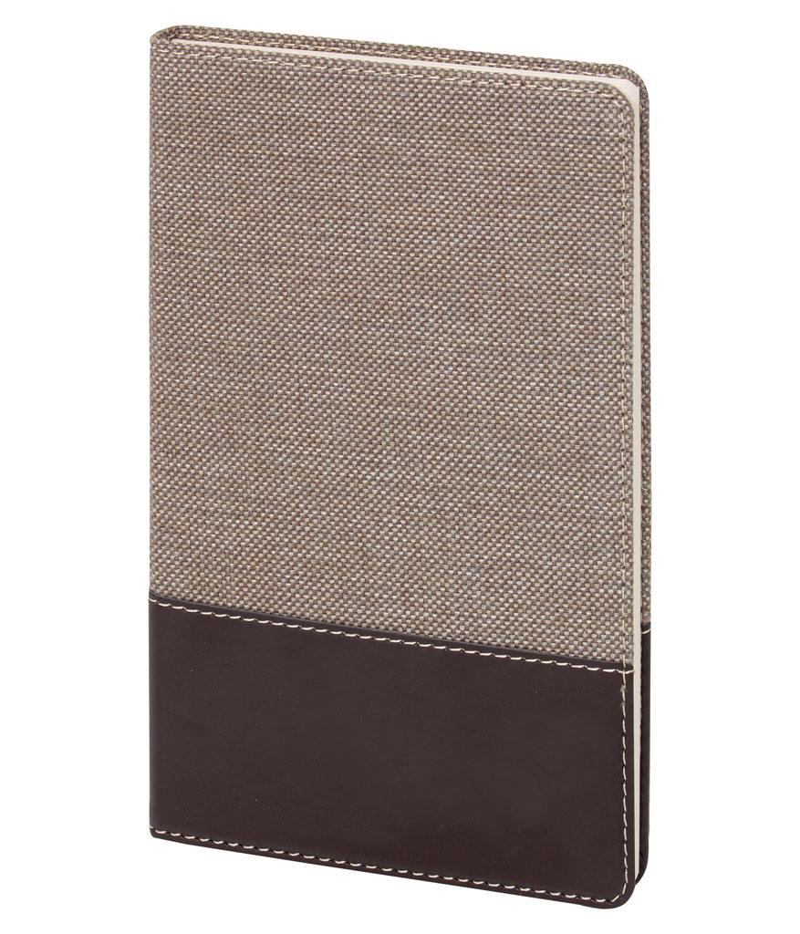 Bej Fabric 13x21 cm Çizgili Defter