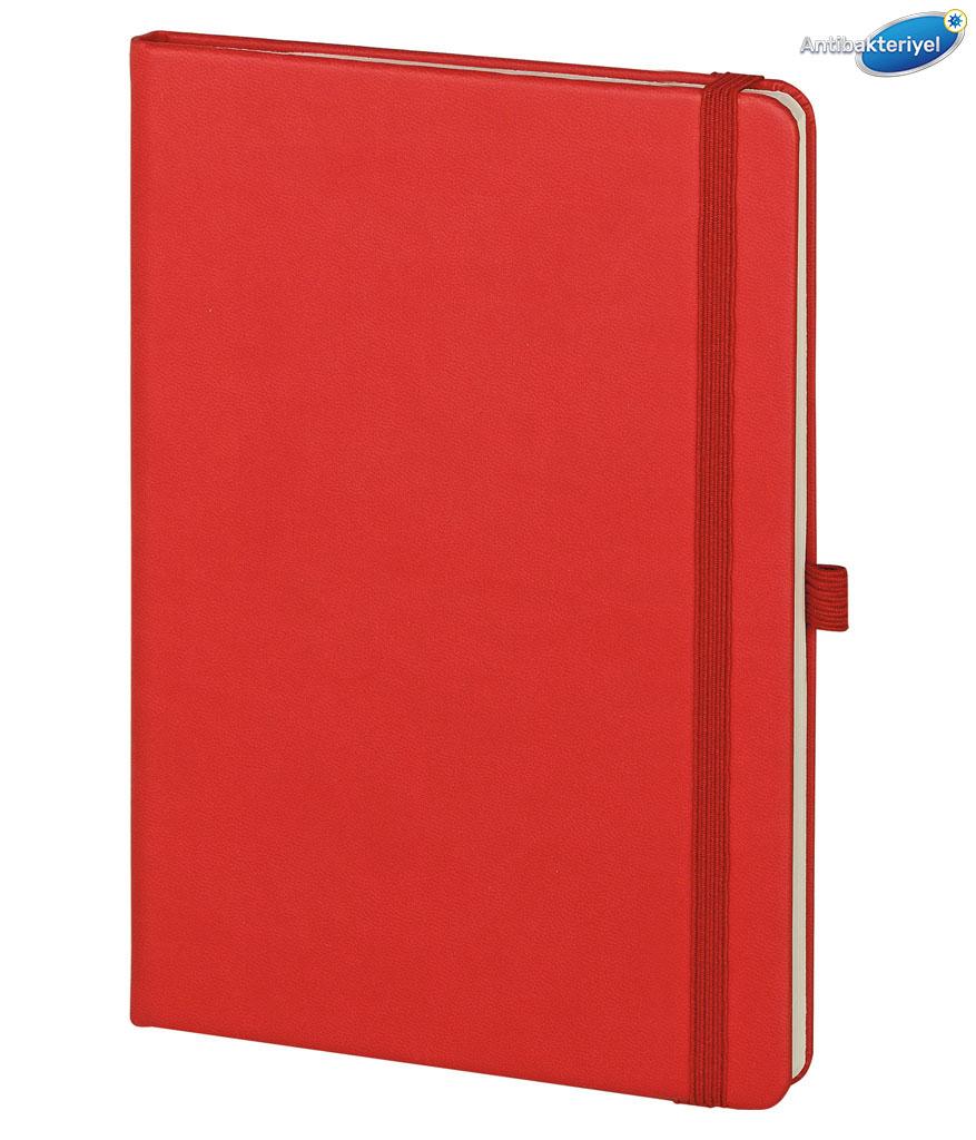 Kırmızı Bakırköy 15x21 cm Antibakteriyel Defter