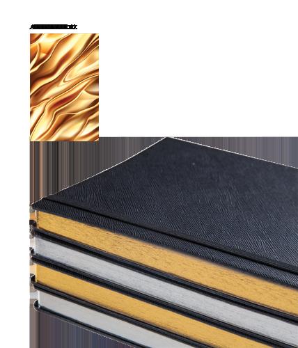 Altın Yaldız Kenarlı 15x21cm Çizgili Defter istinye
